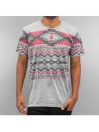 Just Rhyse t-shirt Pattern II grijs