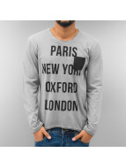 Just Rhyse T-Shirt manches longues Paris gris