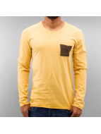 Just Rhyse T-Shirt manches longues Breast Pocket jaune