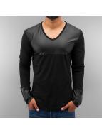 Just Rhyse T-Shirt manches longues PU noir