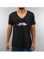 Just Rhyse T-Shirt Mustache Galaxy noir
