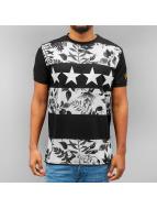Just Rhyse t-shirt Flower zwart