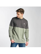 Two Tone Sweatshirt Oliv...