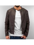 Just Rhyse Veste en cuir Leather brun