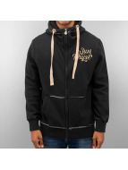 Just Rhyse Big Zip Hoody Black