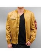 K1X Bomber jacket Alpha Flight gold colored