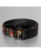 Kaiser Jewelry Gürtel 3 Row Skull schwarz