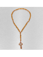 Kaiser Jewelry Necklace Wood Rosary Cross brown
