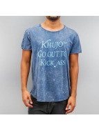 Khujo T-Shirty Ulaf niebieski
