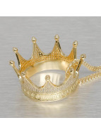 KING ICE Łańcuchy EMPIRE FOX Gold_Plated CZ Large Lucious Lyon's Crown zloty