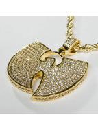 KING ICE Łańcuchy WU-TANG CLAN Gold_Plated CZ The
