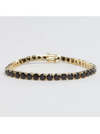 KING ICE Bracelet Gold_Plated 5mm Single Row CZ Pharaoh or