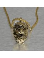 KING ICE Cadena King Lion Crown oro