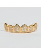 KING ICE Diğer Gold_Plated CZ Studded Teeth Top altın