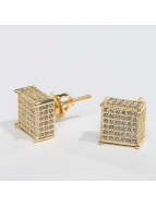 KING ICE Earring Gold_Plated 3D Hip Hop gold colored