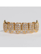 KING ICE Iné Gold_Plated CZ Dracula Teeth Bottom zlatá
