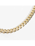 KING ICE Kette Miami Cuban Curb Chains goldfarben