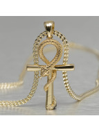 KING ICE ketting Egyptian Apep And Ankh goud