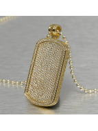 KING ICE ketting Jungl Julz Dog Tag goud