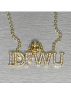 KING ICE - JUNGL JULZ Gold_Plated CZ IDFWU - I Dont't F*** With You Necklace Golden