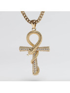 KING ICE ketting Gold_Plated The CZ Apep and Ankh goud