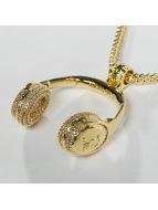KING ICE ketting JUNGL JULZ Gold_Plated CZ Headphones goud