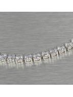 KING ICE ketting Rhodium_Plated 5mm Single Row CZ Pharaoh Chain zilver