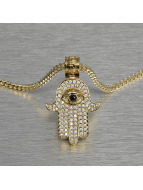 KING ICE Necklace Hamsa gold