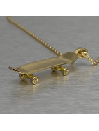 KING ICE Necklace Solid Skateboard gold