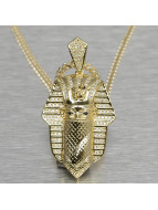 KING ICE Necklace Bandana Pharaoh gold colored