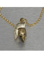 KING ICE Necklace Gladiator Helmet gold colored