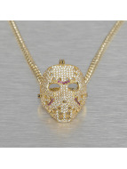 KING ICE Necklace Small Hockey Mask gold colored