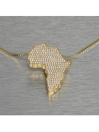 KING ICE Necklace Africa gold colored