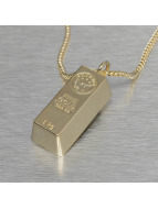 KING ICE Necklace Bar Brick gold colored