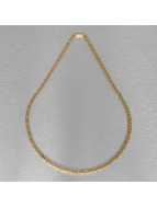 KING ICE Necklace Gold_Plated 5mm Byzantine King gold colored