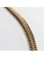 KING ICE Necklace Gold_Plated 10mm Thick Herringbone gold colored