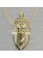 KING ICE Zincirler Bandana Pharaoh altın