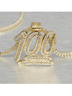KING ICE Zincirler 100 Points Emoji altın