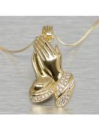KING ICE Zincirler Praying Hand altın