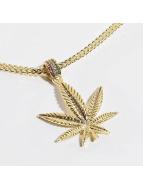 KING ICE Zincirler Jungl Julz Weed Leaf altın