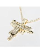 KING ICE Zincirler Gold_Plated CZ Uzi altın