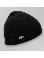 Lacoste Classic Beanie Half Cardigan Rib black