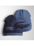 Lacoste Classic Beanie Jacquard Jersey blauw