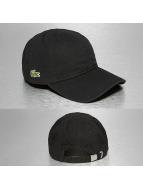 Lacoste Classic snapback cap Gabardine Croc Strapback Cap zwart