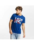 Lacoste Classic t-shirt Kroko blauw