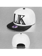 Last Kings snapback cap Block LK Logo wit