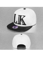 Last Kings snapback cap Block LK Logo wit