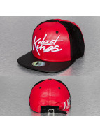 Last Kings Snapback Caps Tag Faux Leather čern