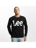Lee Пуловер Logo черный