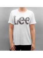 Lee Camiseta Logo blanco